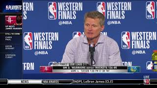 Coach Steve Kerr | Western Conference Finals Game 3 Press Conference - Video Youtube