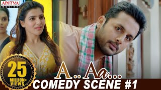 A Aa Scenes || Comedy Scene#1 | Nithiin, Samantha | Trivikram | A Aa (Hindi Dubbed Movie) - Download this Video in MP3, M4A, WEBM, MP4, 3GP