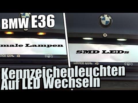 BMW E36 Kennzeichenleuchten Auf LEDs Wechseln