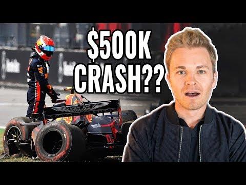 HALF A MILLION DOLLAR CAR SHUNT!! (GERMAN F1 GP!!) | NICO ROSBERG | RACEVLOG