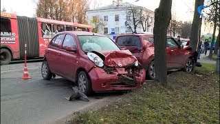 Восемь серьезных аварий произошло в выходные в Новгородской области