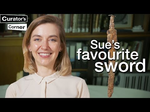 Historian talking about her favorite swords