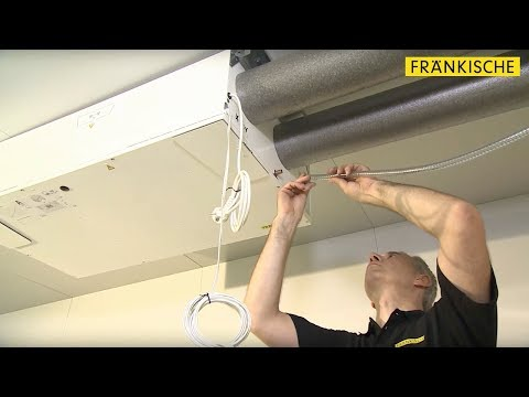 profi-air 180 flat: Installation and connection on the ceiling