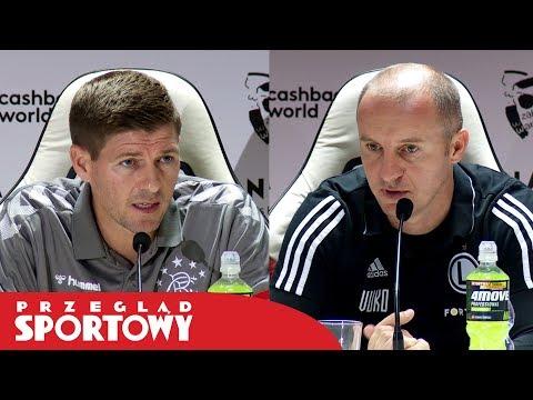 Trenerzy Vuković i Gerrard przed meczem Legia - Rangers