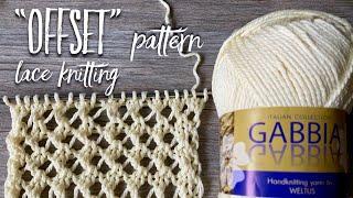 Необычная АЖУРНАЯ СЕТКА для майки спицами Offset / Beautiful Lace Knitting Pattern For TOP