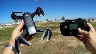 KK10S Folding GPS 1080p FPV Camera Drone Flight Test Review