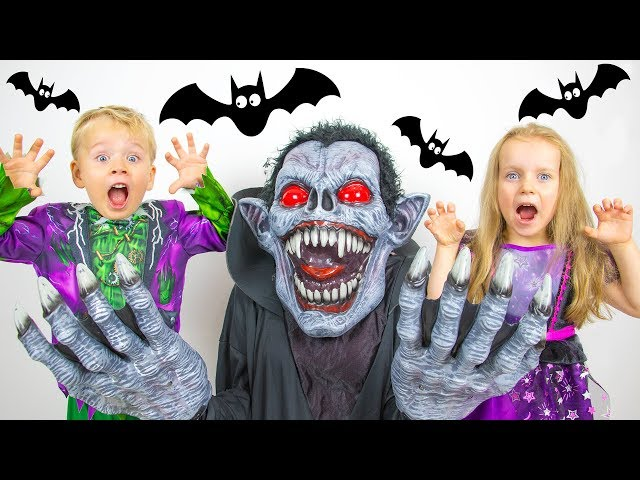 Halloween Song nursery Rhymes for kids from Gaby and Alex