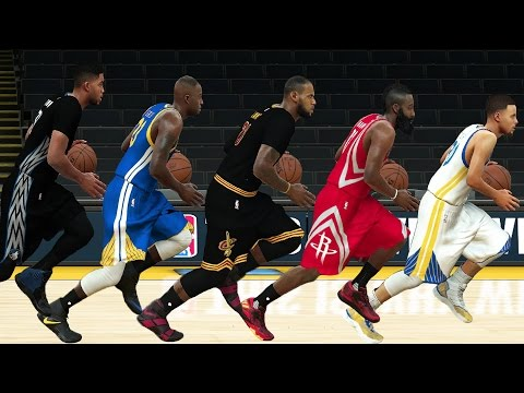 NBA 2K17 Speed Test - All Positions (PG/SG/SF/PF/C) Fastest Players In NBA 2K17