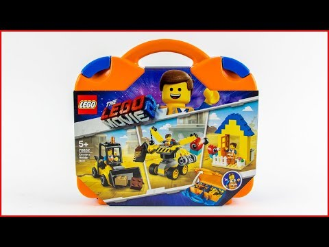 LEGO MOVIE 2 70832 Emmet's Builder Box! Construction Toy - UNBOXING