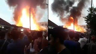 Kebakaran Pasar Anyar Tangerang, Tiga Bangunan Hangus Terbakar