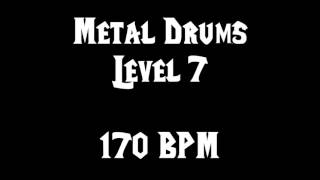 Metal Drums Level 7 (170 BPM) FREE DRUM TRACK