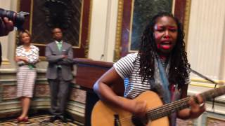 Anita Antoinette  at White House's Caribbean Heritage Month Event