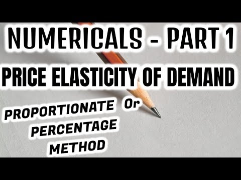 NUMERICALS - PRICE ELASTICITY OF DEMAND - PART 1