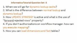 Informatica Interview Questions  Set 3