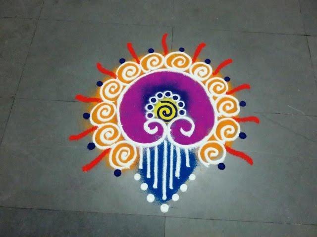 Small And Easy Sanskarbharti Colourful Rangoli Designs Kolam Muggulu ...