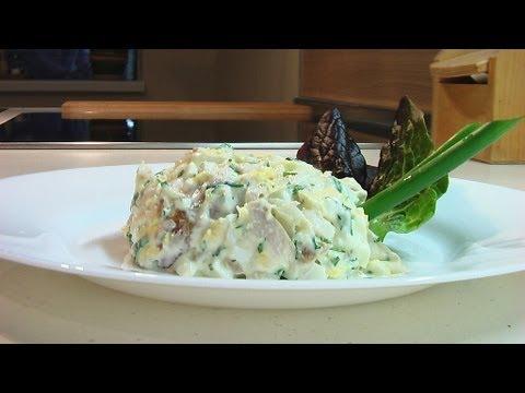 Салат из копченого окуня видео рецепт