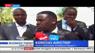 Section of Kericho MCAs oppose the upgrading of Kerenga Airstip