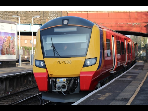 SWT 707006 on test passes through Richmond 13th February 201…