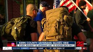 Veterans walk to raise awareness for military suicide