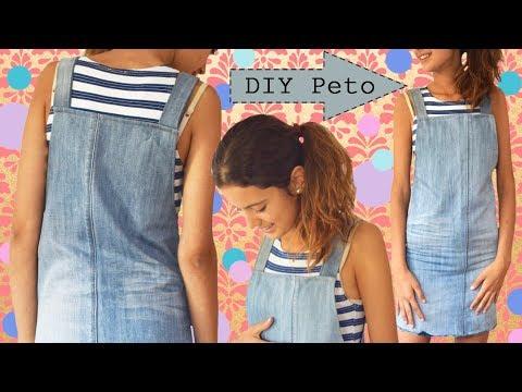 DIY Peto / Cómo hacer un peto de un pantalón viejo - DUNGAREES