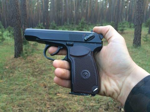Тест пневматического пистолета на мощность ! и дальность !