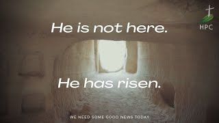 He is not here. Mark 16:3-6
