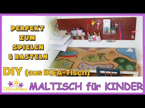 DIY SPIEL- & MALTISCH aus altem IKEA-Tisch / günstig / upcycling ikea / Täglich Mama