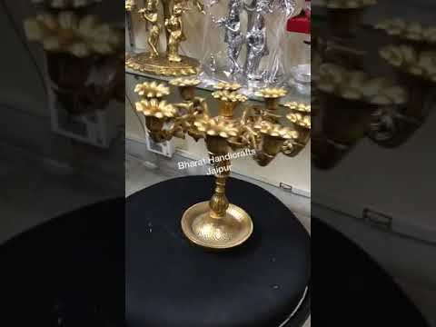 Gold Plated Candle Holder