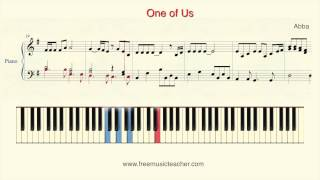 """How To Play Piano: Abba """"One of Us"""" Piano Tutorial by Ramin Yousefi"""
