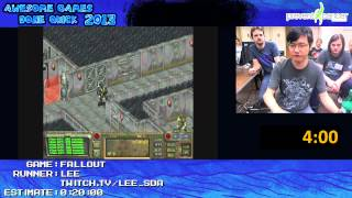 Fallout - Speed Run in 0:12:03 by Lee *1-Handed Live for Awesome Games Done Quick 2013 [PC]