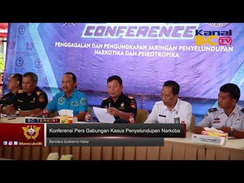 Konferensi Pers Gabungan Kasus Penyelundupan Narkoba