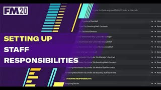 How to set up Staff Responsibilities on FM20