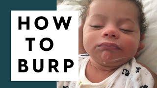 How To Burp A Newborn | BEST Ways To Burp A Baby!