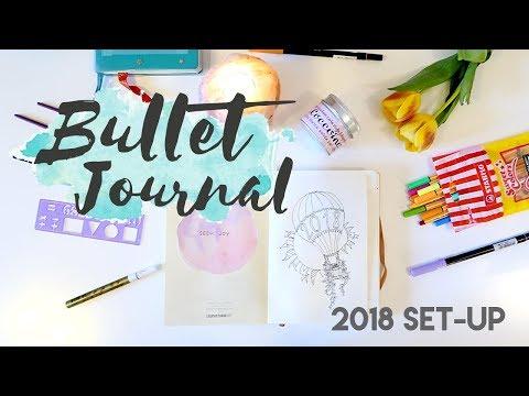 PLAN WITH ME: BULLET JOURNAL 2018 SET UP - come iniziare un bullet journal