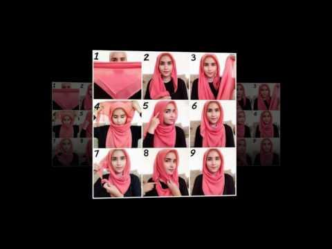 Video cara memakai jilbab segi empat