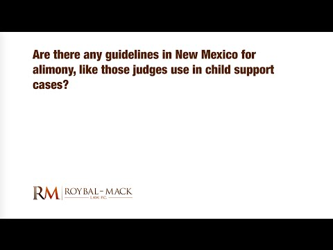Are there any guidelines in New Mexico for alimony like those judges use in child support cases?