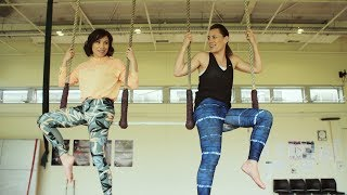 Youtube thumbnail for Stacey and Jenny-May try acrobatics