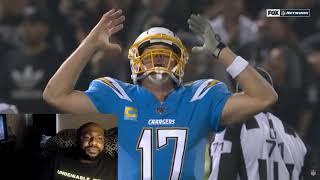 Chargers vs Raiders Highlights reaction