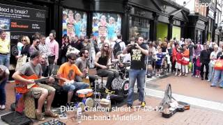 Dublin Grafton street 17 08 12 the band Mutefish