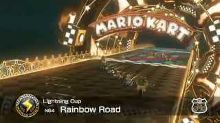 Mario Kart 8 - (N64) Rainbow Road (Wario Close Call)