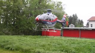preview picture of video 'Start des Polizeihubschraubers - Unwettereinsatz 07/05/2013 in Raaba'