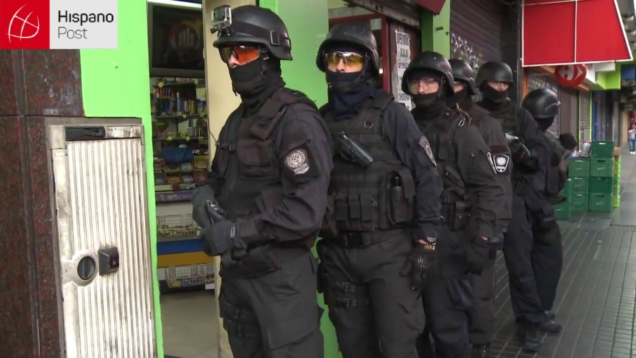 Operativo policial desmantela banda de manteros en Buenos Aires