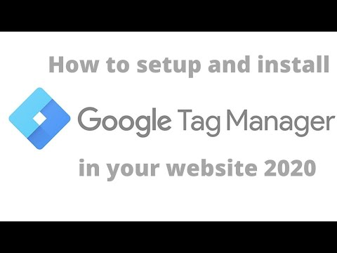 How to setup and install google tag manager in your website
