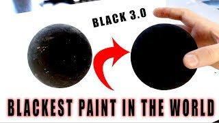 TESTING OUT THE *NEW* Blackest Paint IN THE WORLD! (BLACK 3.0)