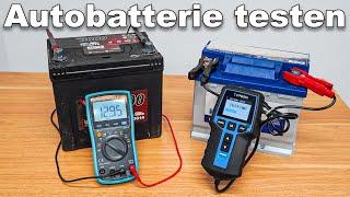 Autobatterien testen ohne Batterietester und mit Batterietester / Autobatterie testen ob defekt?