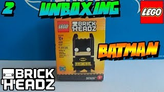 "UNBOXING - BATMAN LEGO ""BRICK HEADZ"""