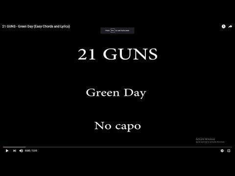 Green day - 21 guns (lyrics and chords) - TheGyuusti - Video ...