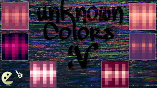 How to get Unknown Colors|Pixel Gun 3D|