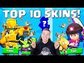 TOP 10 ZIEKSTE SKINS IN BRAWL STARS!!