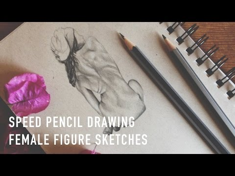 Speed Pencil Drawing | Female Figure Sketches